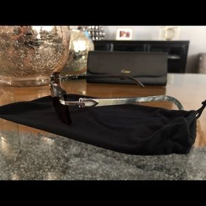 Original Cartier Rimless Buffalo Horn Sunglasses.